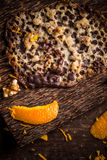 Polish Florentine cookies. With candied orange peel and nuts stock images
