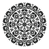 Polish folk art pattern in circle - wzory lowickie, wycinanki Royalty Free Stock Images