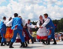 Polish Folk Dancers Royalty Free Stock Photography