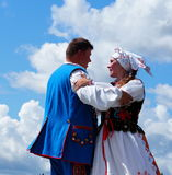 Polish Folk Dancers Royalty Free Stock Photos
