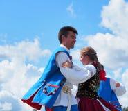 Polish Folk Dancers Royalty Free Stock Photo