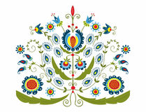 Polish folk with decorative floral Stock Photo