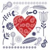 Polish folk heart Stock Photo