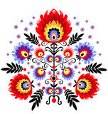 Polish folk - inspiration. Polish Folk Inspiration - traditional pattern ebroidery stock illustration