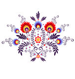 Polish folk - inspiration. Polish Folk Inspiration - traditional pattern ebroidery vector illustration