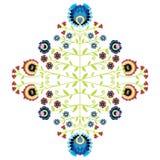 Polish folk inspired floral pattern Stock Photography