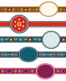 Polish folk labels. Embroidery labels, this is polish design vector illustration