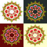 Polish folk pattern. Polish folk design, pattern rossete royalty free illustration