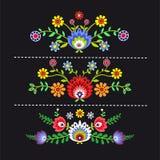 Polish folk. Polish pattern folk, flowers background royalty free illustration