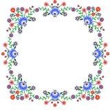 Polish folk. Polish pattern folk, flowers frame vector illustration