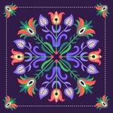 Polish folk. Polish pattern folk in Podhale - inspiration royalty free illustration