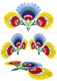 Polish folk patterns pattern from Lowicz Royalty Free Stock Image