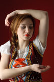 Polish folk woman Royalty Free Stock Photography