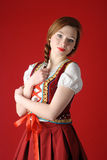 Polish folk woman Royalty Free Stock Photo
