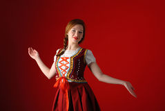 Polish folk woman Stock Photo