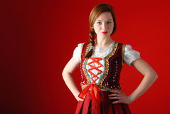 Polish folk woman Stock Photos