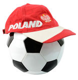 Polish football composition Royalty Free Stock Images