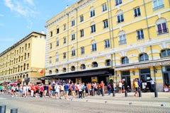 Polish Football Fans Euro 2016 Royalty Free Stock Photography