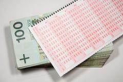 Polish form of lotto Royalty Free Stock Photo