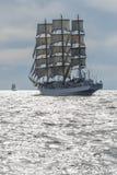 Polish fullrigger Dar Mlodziezy under sail Royalty Free Stock Photo