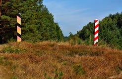 Polish and Germany border post Royalty Free Stock Image