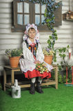 Polish girl in national costume Royalty Free Stock Images