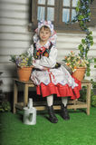 Polish girl in national costume Royalty Free Stock Photos