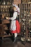 Polish girl in national costume Stock Image