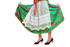 Polish girl in a traditional outfit Royalty Free Stock Images