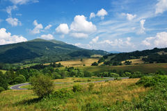 Polish green mountains Carpathians Stock Image