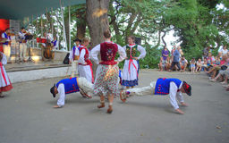 Polish group dance at Varna folklore festival Stock Photography
