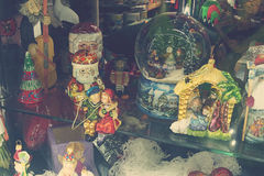 Polish hand-painted Christmas baubles, Royalty Free Stock Image