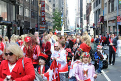 Polish Heritage Parade. The General Pulaski Memorial Parade in New York City is an annual Polish Heritage parade Royalty Free Stock Images