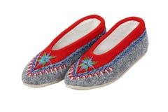 Polish highlander slippers Stock Image