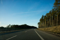 Polish highway Stock Images