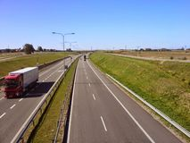 Polish highway near Slupsk Royalty Free Stock Image