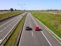 Polish highway near Slupsk Royalty Free Stock Photo