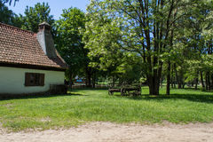 Polish historic village house Royalty Free Stock Photo