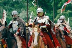 Polish Hussars Stock Photo
