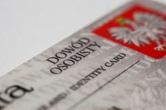 Polish identity card Royalty Free Stock Image