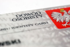 Polish identity card. On a white background royalty free stock photos
