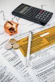 Polish income tax forms Stock Photo