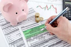 Polish income tax forms stock photo