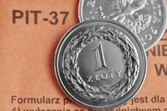 Polish income tax Royalty Free Stock Image