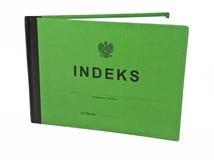 Polish indeks. Polish student's registration book - indeks Royalty Free Stock Photo