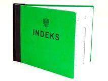 Polish indeks Stock Photo
