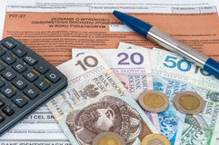 Polish individual tax form PIT-37 Stock Photos
