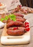 Polish junipers sausage. A fresh and tasty Polish junipers sausage Stock Photo