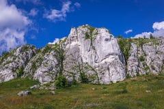 Polish Jura region. Rock formation near Olsztyn Castle in small village Olsztyn, Silesia region in Poland royalty free stock photos