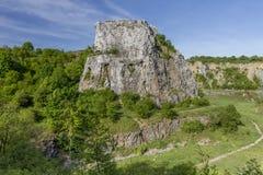 Polish Jurassic Highland. Hilly landscape with Jurassic limestone rocks Stock Photos